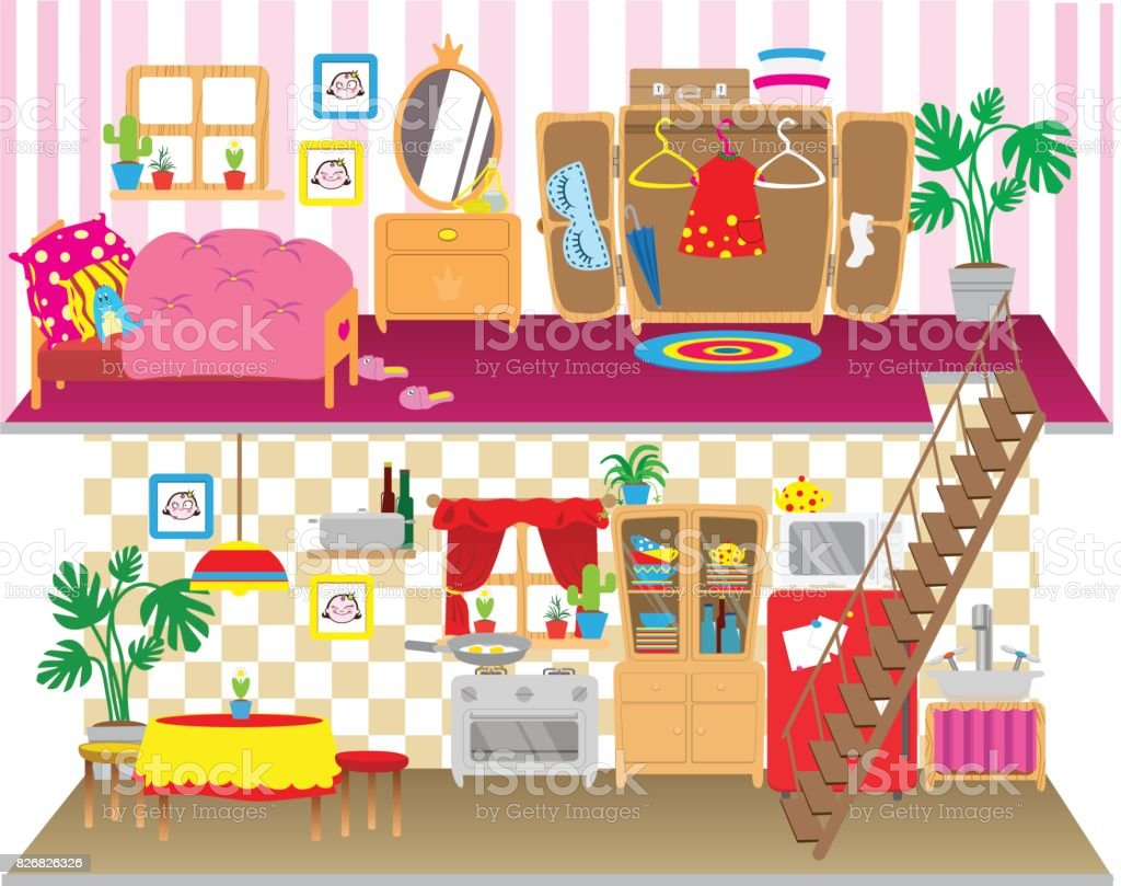 Royalty Free Dollhouse Clip Art Vector Images Illustrations Istock