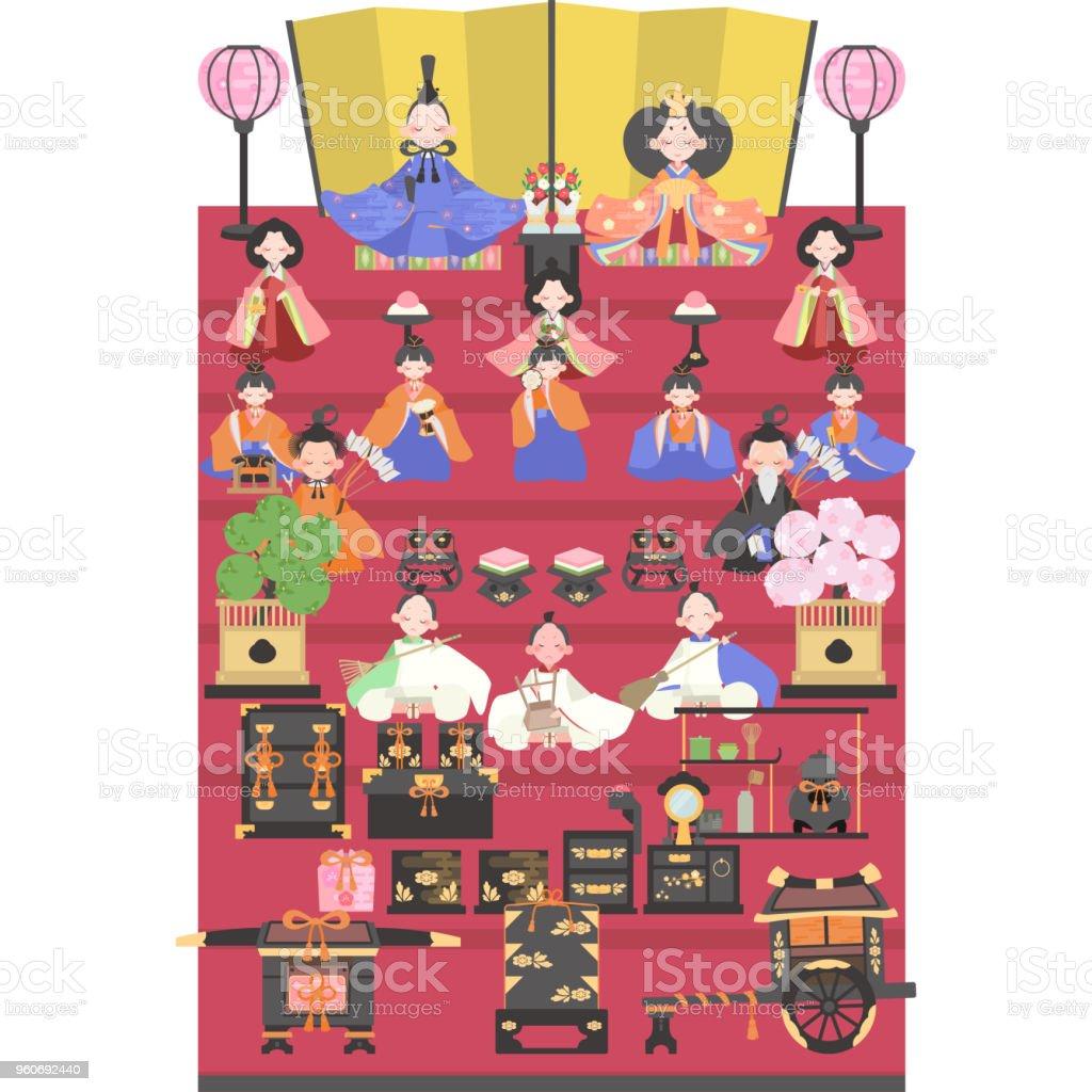 人形 (15 飾り) ベクターアートイラスト