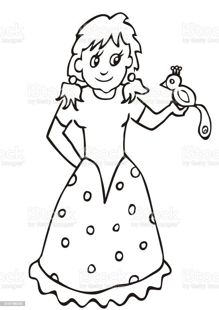 Ilustración de Dolly Y Loro Libro De Colorear Para Los Niños y más ...