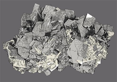 Dolomite Mineral. Gemstone, Christal