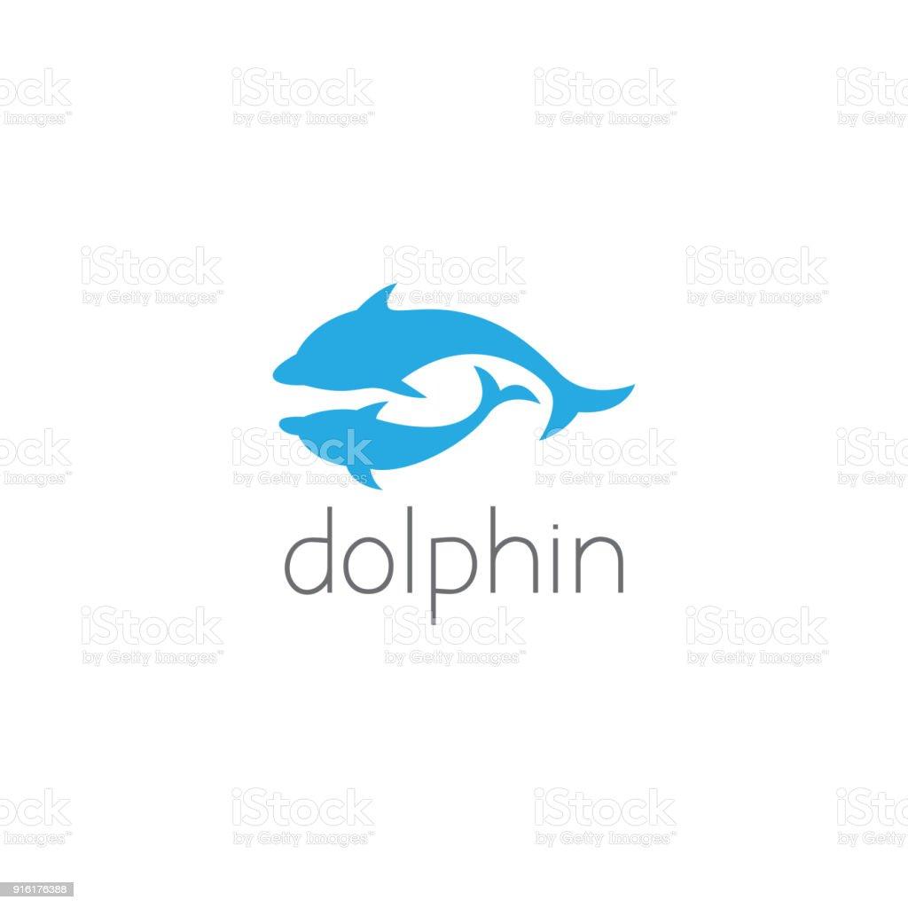 dolphin icon graphic design concept