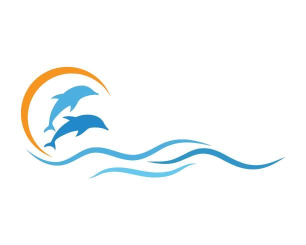 Dolphin icon vector Dolphin icon vector template dolphin stock illustrations
