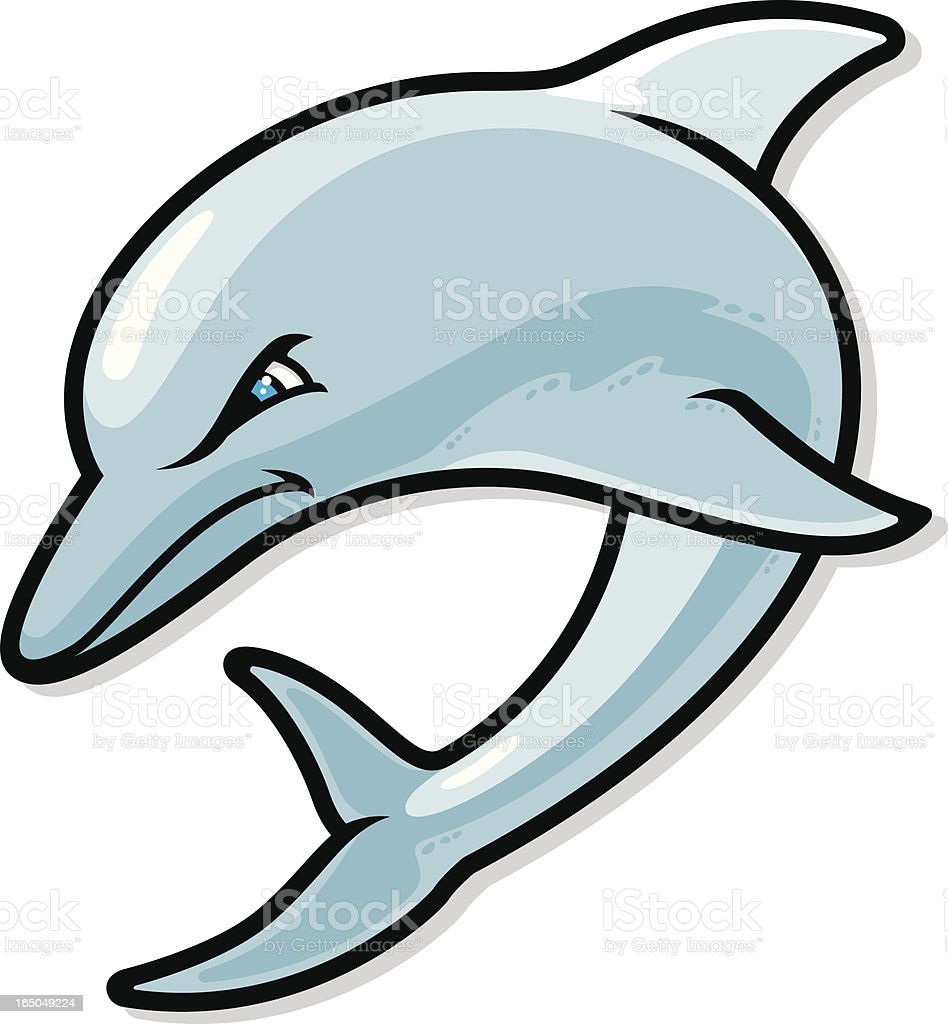 Dolphin Jumping vector art illustration