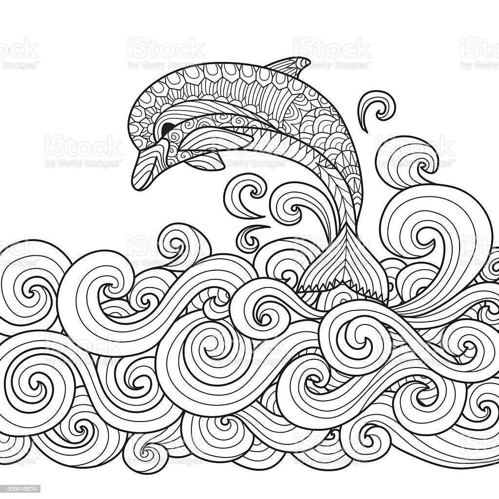 dolphin vector art illustration
