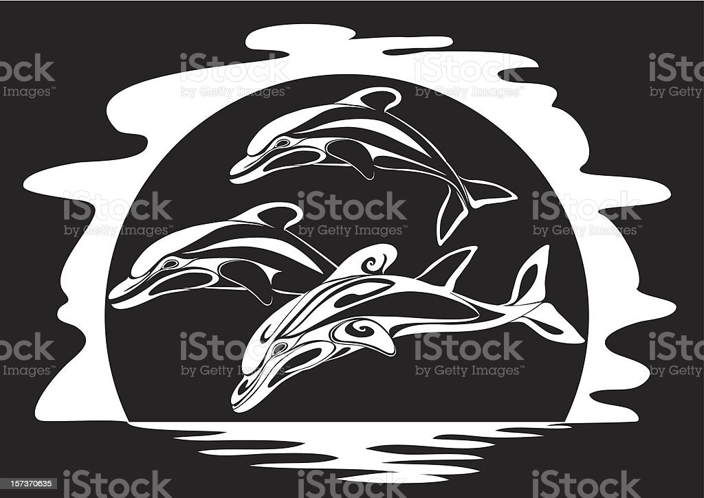 Dolphins a print royalty-free dolphins a print stock vector art & more images of animal