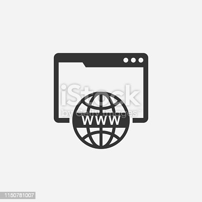 Domain name registration vector icon concept.