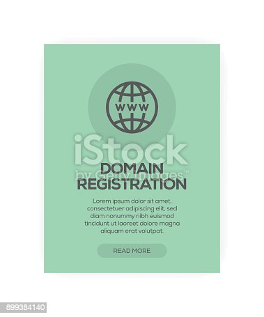 istock Domain Registration Concept 899384140