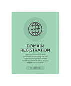 Domain Registration Concept