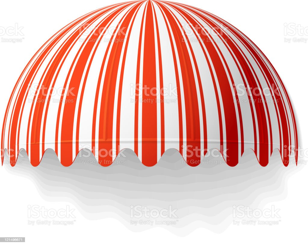 Dome awning vector art illustration
