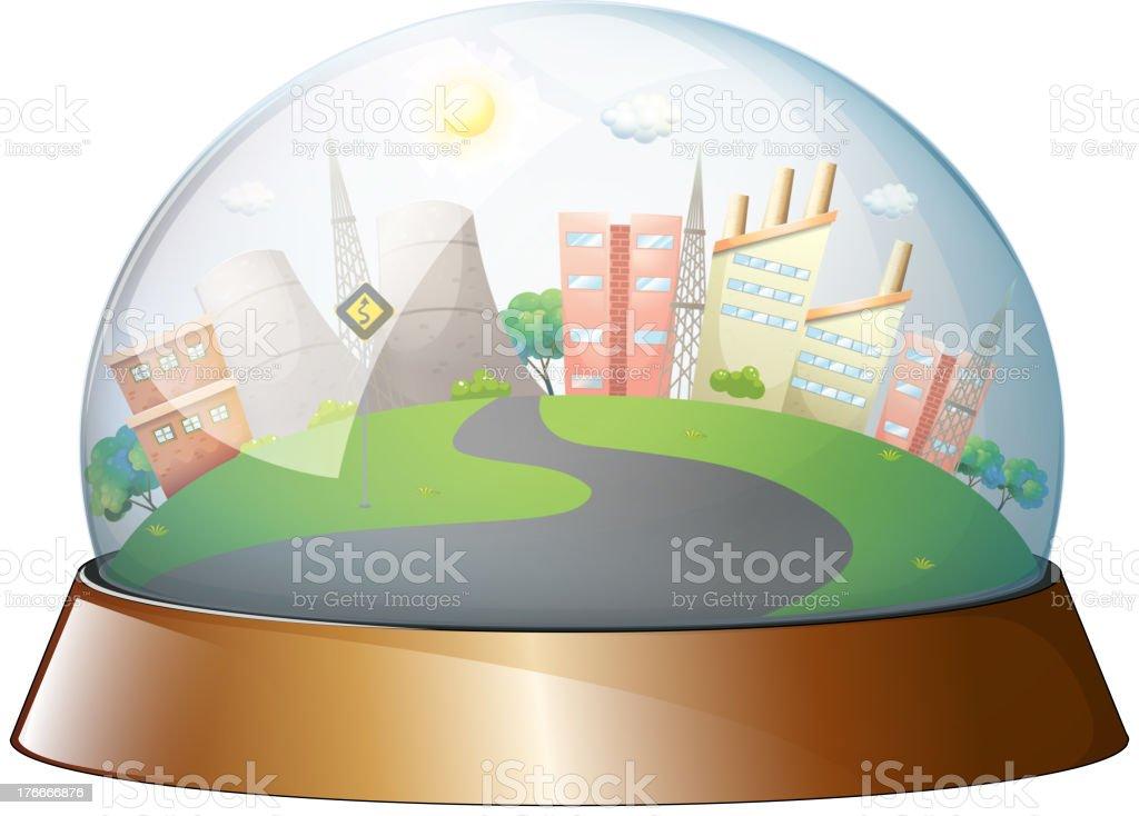 Cúpula diseñado a la ciudad ilustración de cúpula diseñado a la ciudad y más banco de imágenes de ilustración libre de derechos