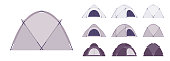 Dome tent set