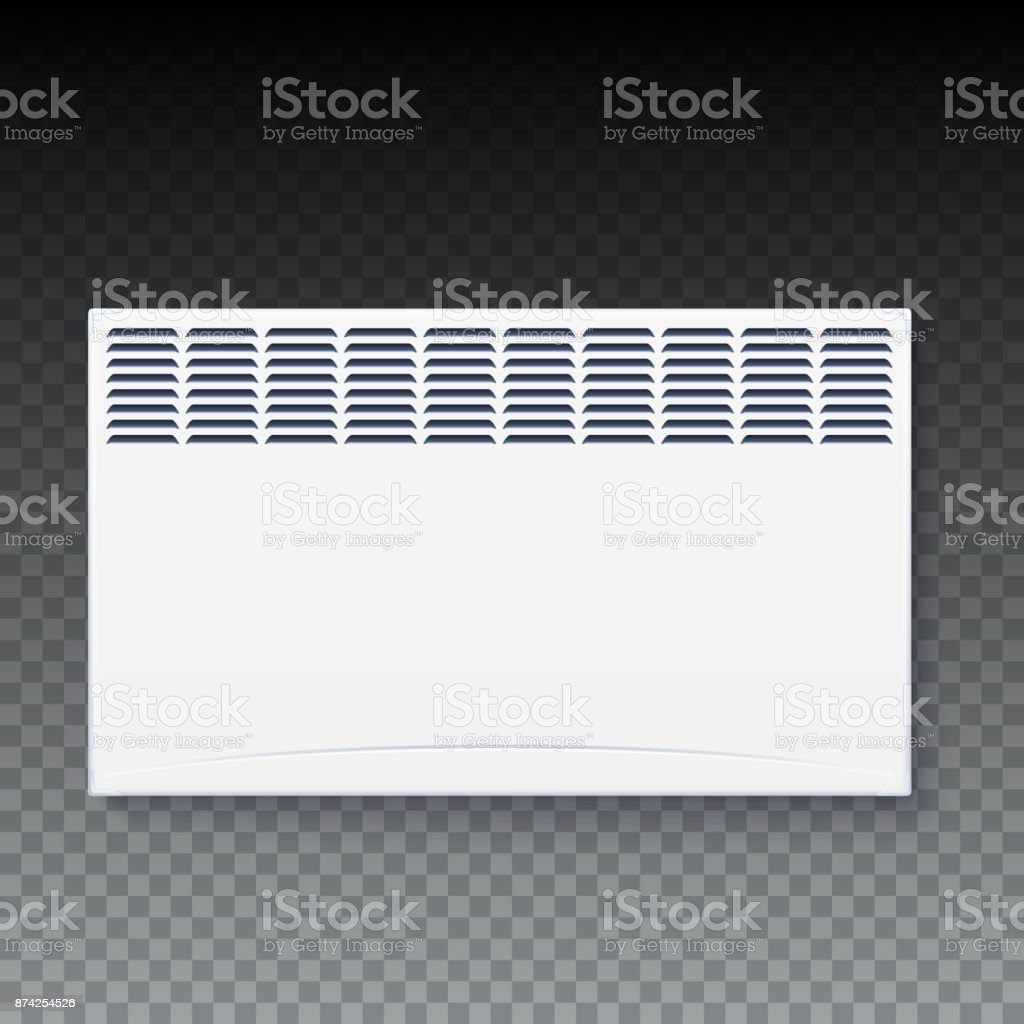 Domestic Electric Heater Icon Of Home Convector Electric Panel Of Radiator Appliance For Space Heating Isolated On Transparent Background Stock Illustration Download Image Now Istock