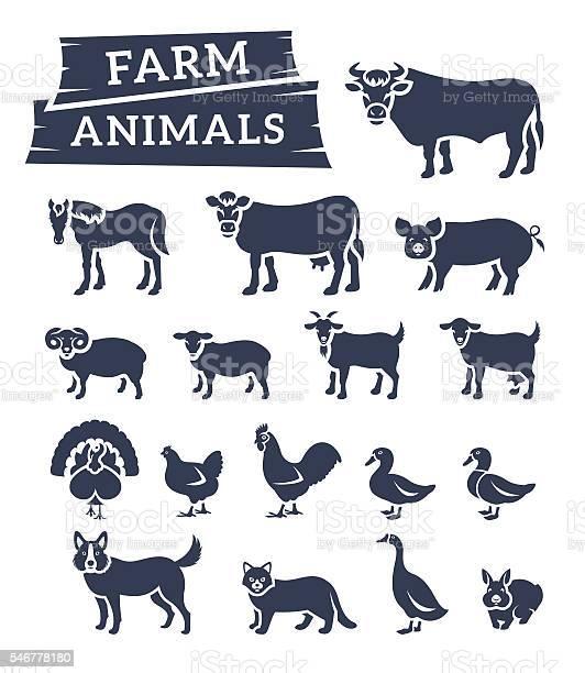 Domestic farm animals flat silhouettes vector icons vector id546778180?b=1&k=6&m=546778180&s=612x612&h=q5zrjbuq7fwsgdz7uqznbs8xtdahgemhtf 65simhki=