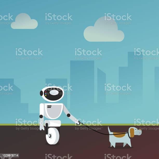 Domestic robot walking the dog vector id1029978714?b=1&k=6&m=1029978714&s=612x612&h=dcqbw nivpnpqmx j6eftjfxdjgyyxxwwj58waue69i=