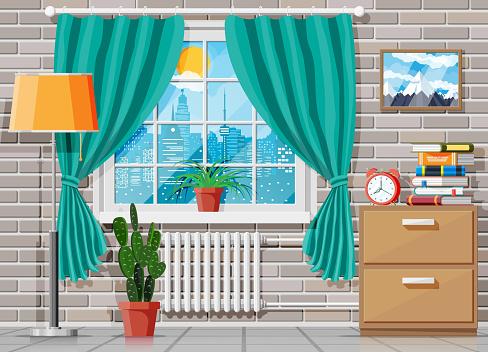 Domestic room interior.