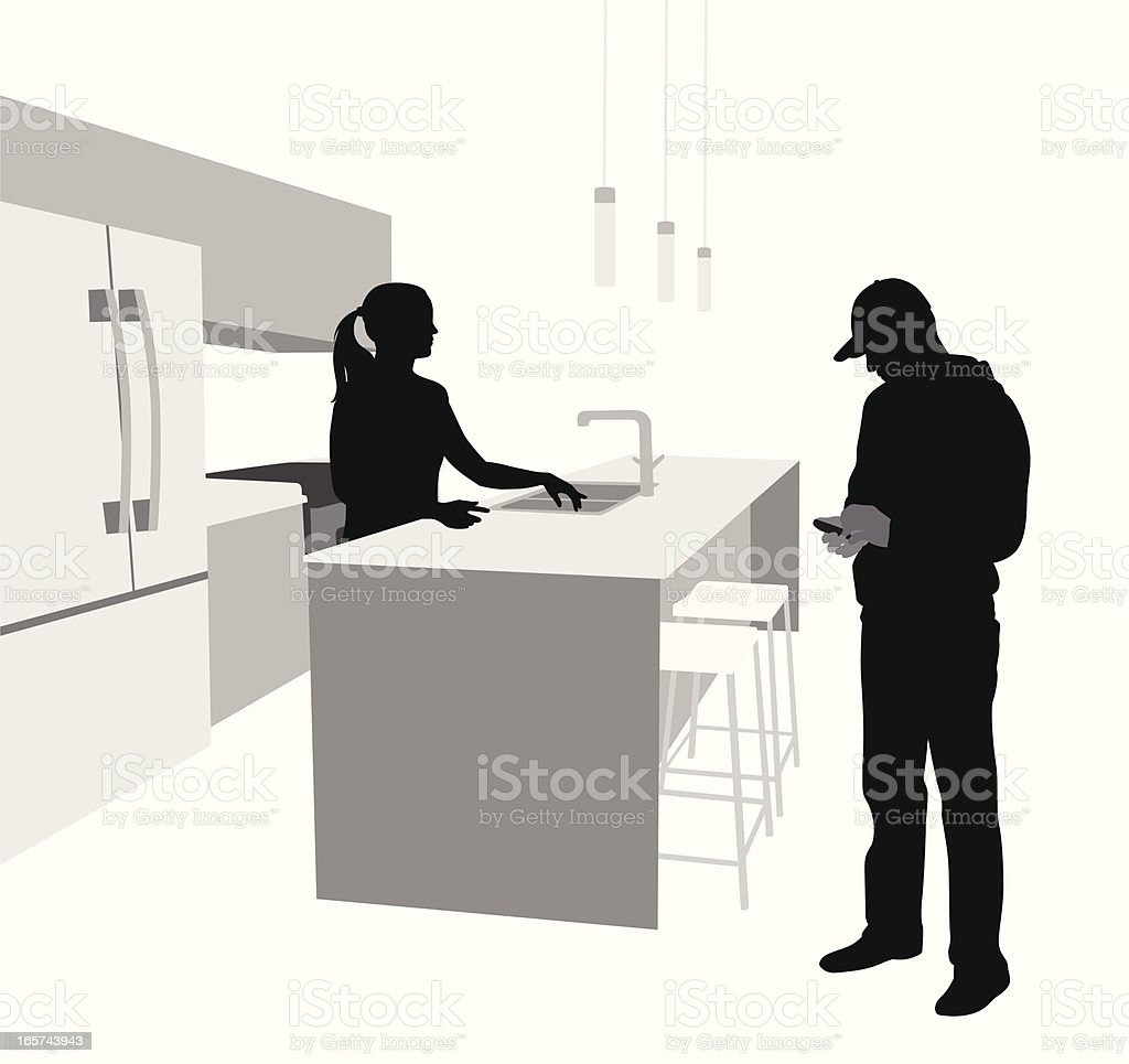 Domestic Vector Silhouette royalty-free stock vector art