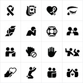 Domestic Violence and Abuse Awareness Icons