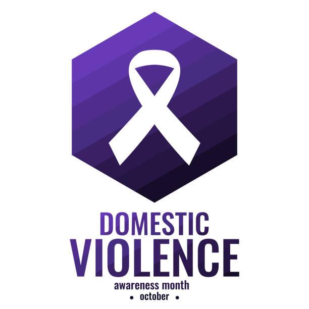 domestic violence awareness - domestic violence stock illustrations