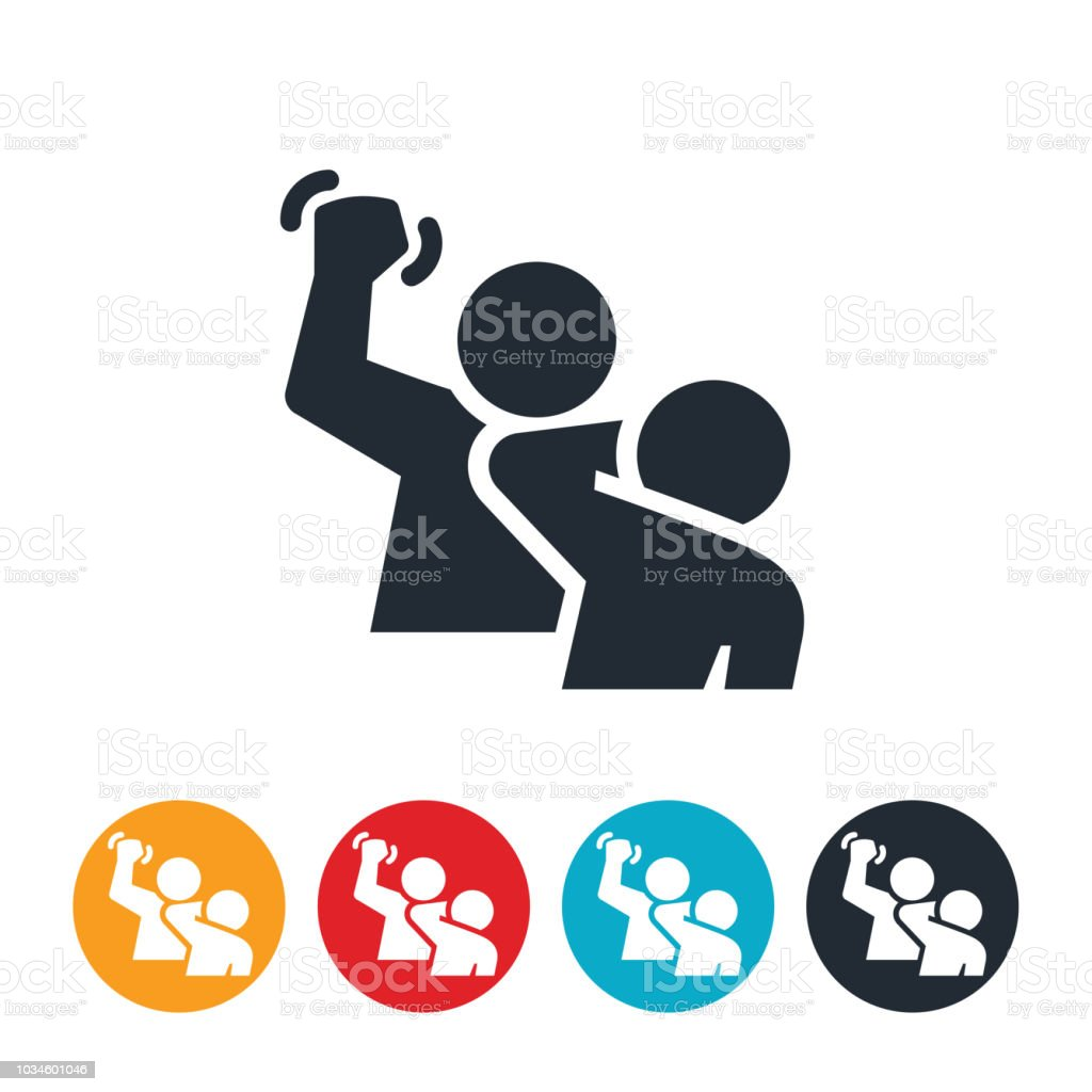 Domestic Violence Icon vector art illustration