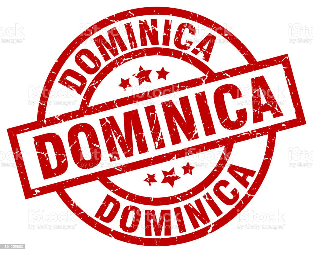Dominica red round grunge stamp royalty-free dominica red round grunge stamp stock vector art & more images of badge