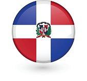 Dominican flag vector button
