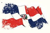 Dominican Republic Flag Grunge