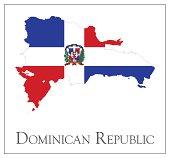 Dominican Republic flag map