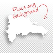 Dominican Republic Map for design - Blank Background