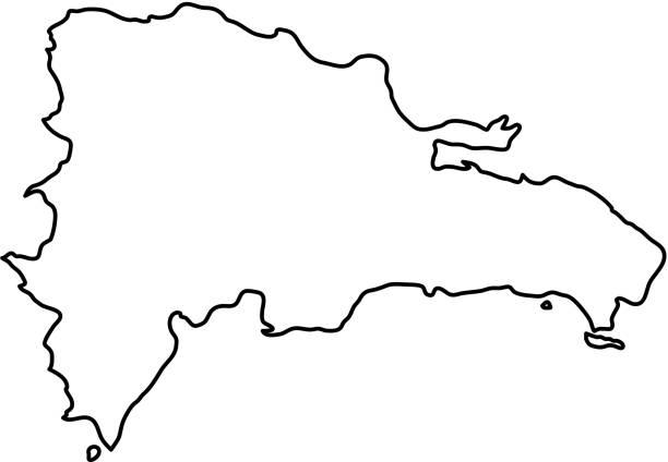 Politics And Government Clip Art Vector Images Illustrations - Dominican republic map vector