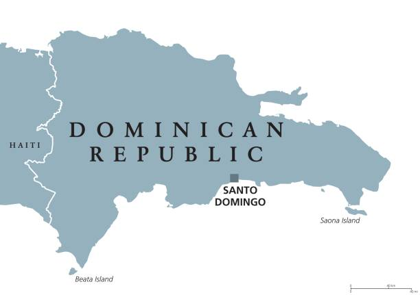 Santo Domingo Clip Art Vector Images Illustrations IStock - Dominican republic map vector
