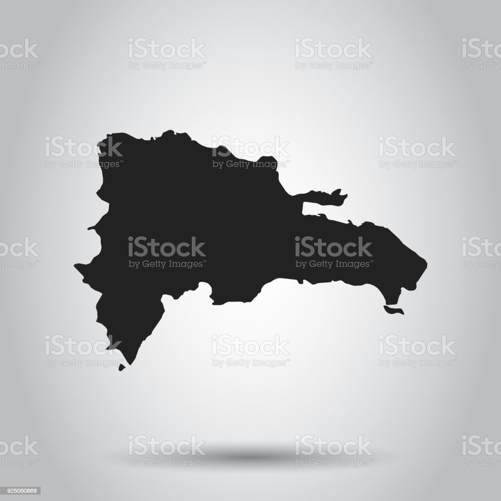 dominican republic vector map black icon on white background royalty free dominican republic