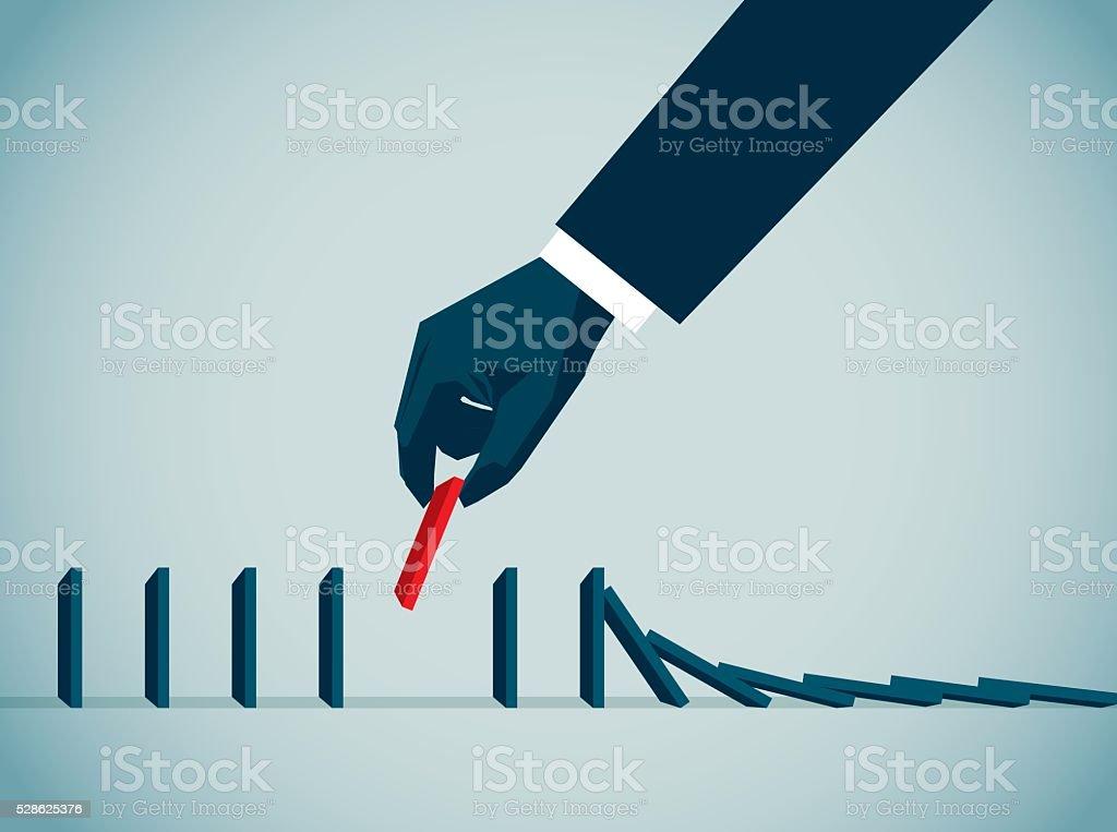 Domino Effect vector art illustration