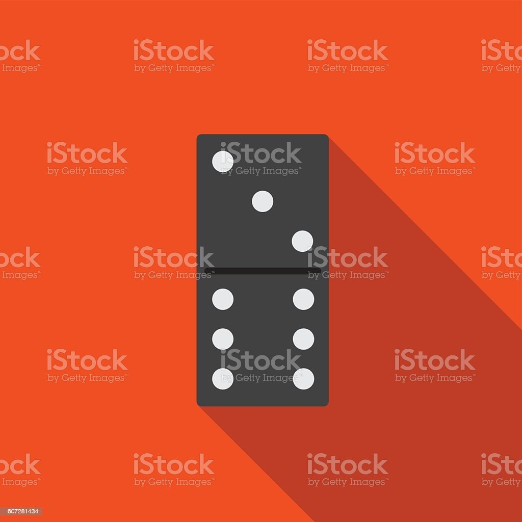 Domino flat icon illustration vector art illustration