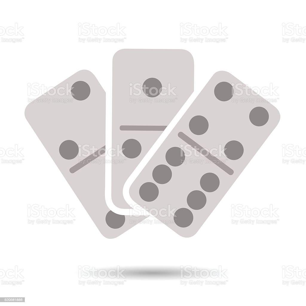 Domino icon vector art illustration