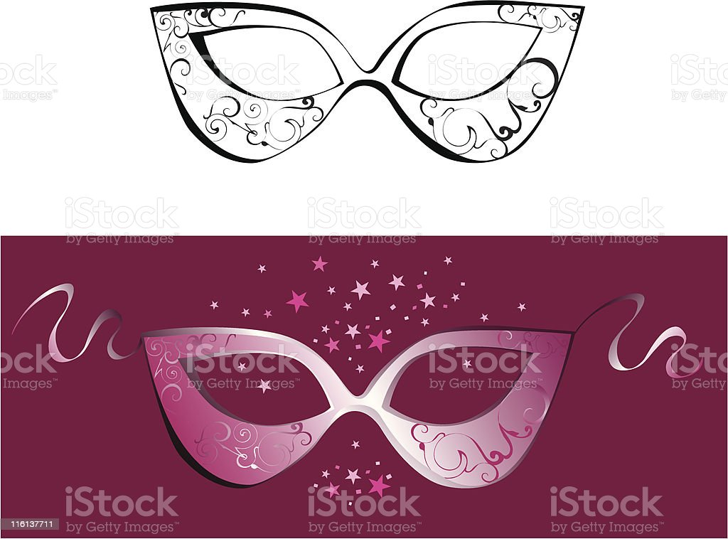 Domino mask royalty-free stock vector art