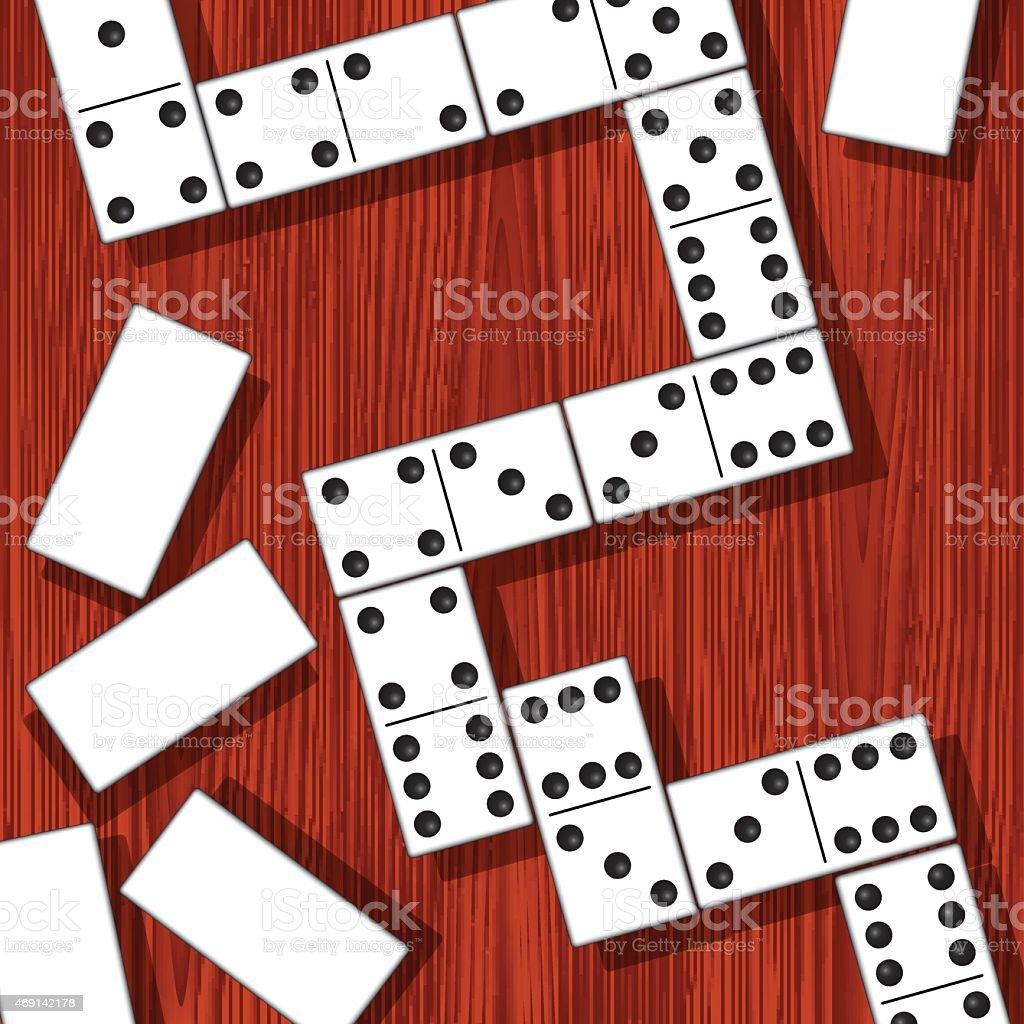 Domino pieces vector art illustration