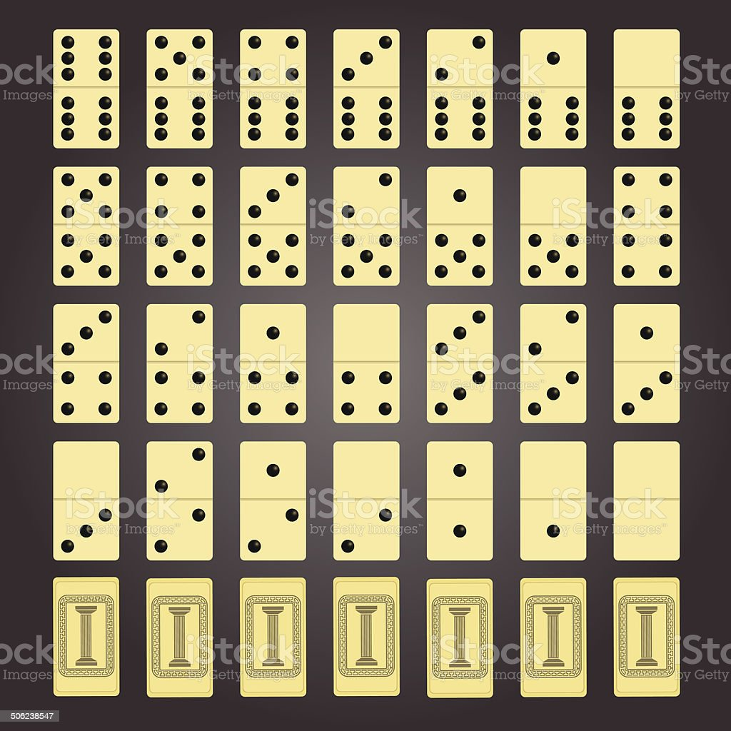 domino pieces royalty-free stock vector art