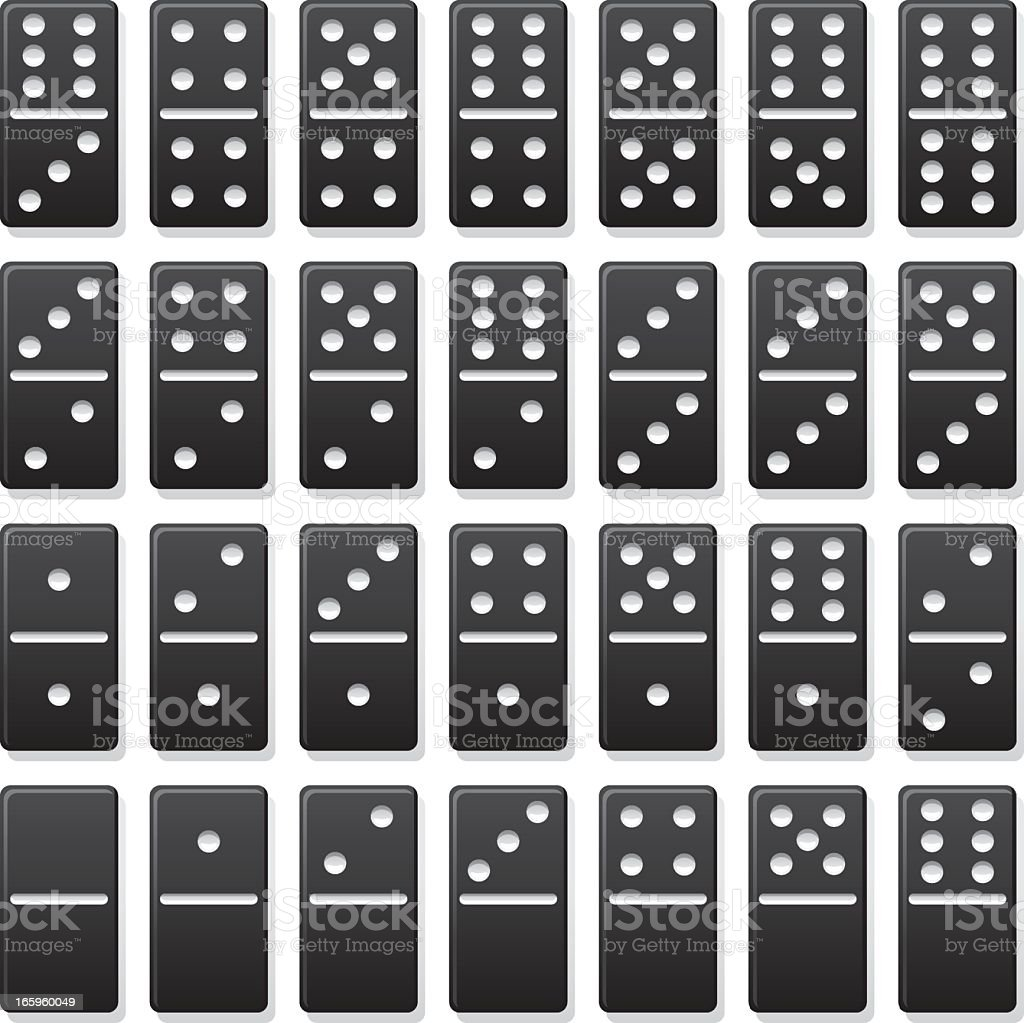 Domino Set royalty-free domino set stock vector art & more images of black color