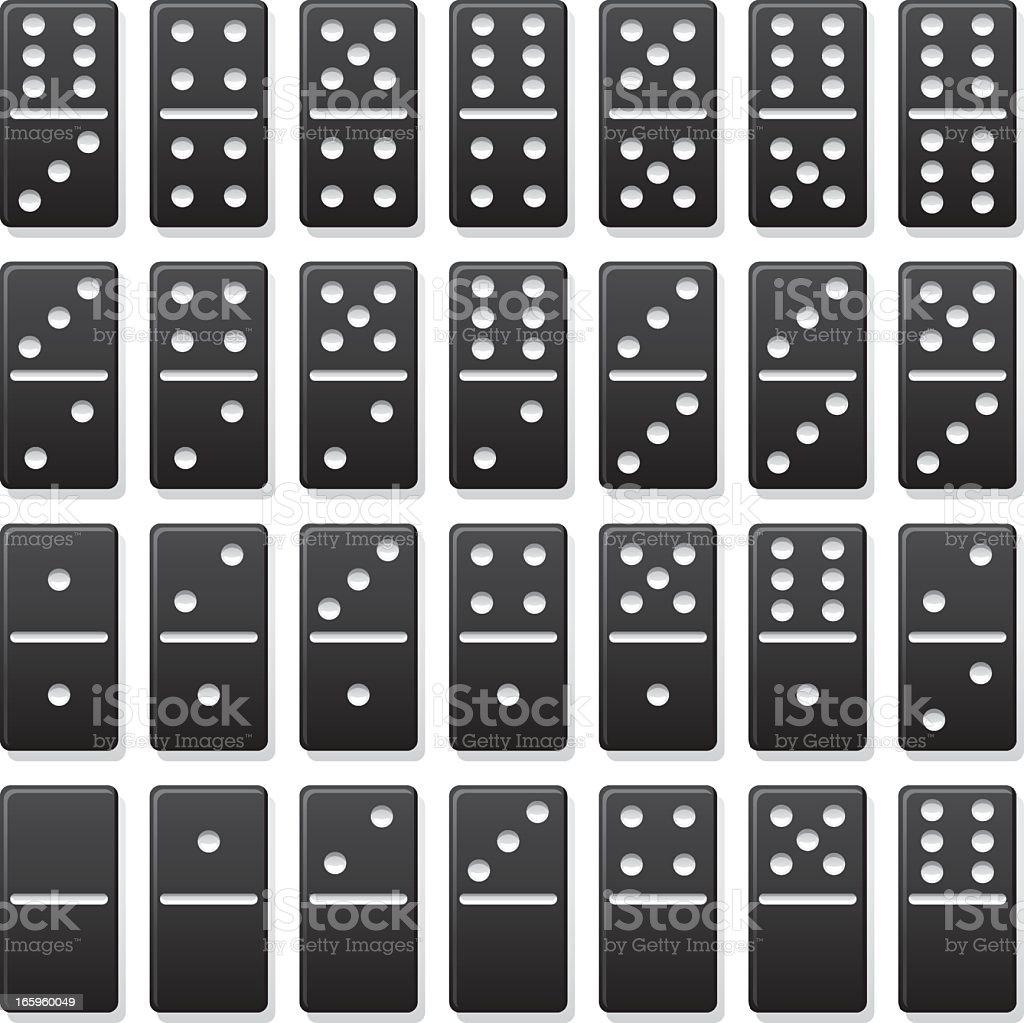 Domino Set vector art illustration