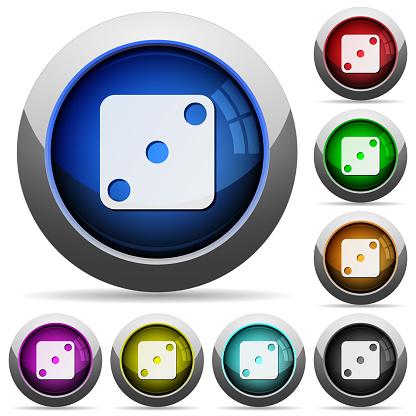 도미노 3 라운드 광택 버튼 0명에 대한 스톡 벡터 아트 및 기타 이미지
