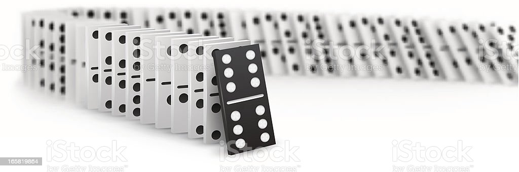 Domino royalty-free stock vector art