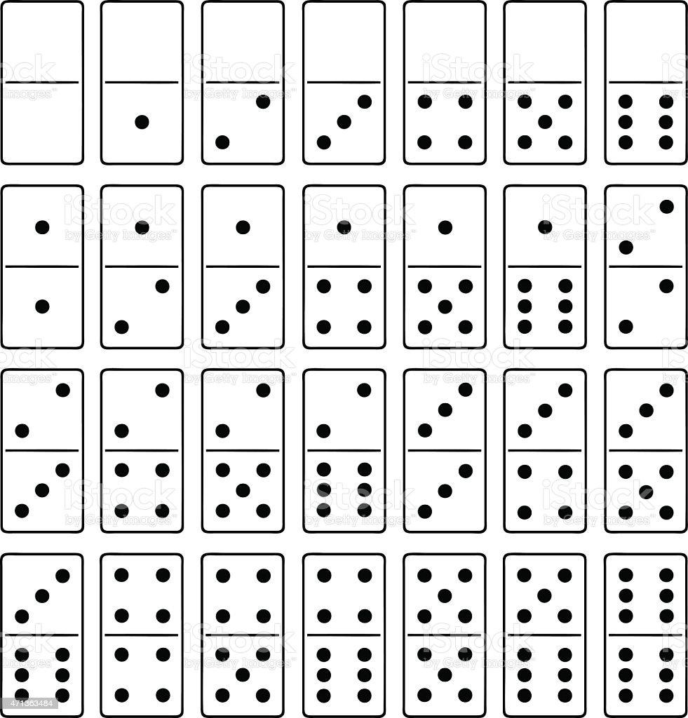 Domino vector art illustration
