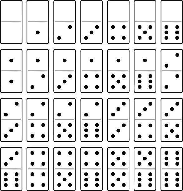 Royalty free domino clip art vector images for Fichas de domino