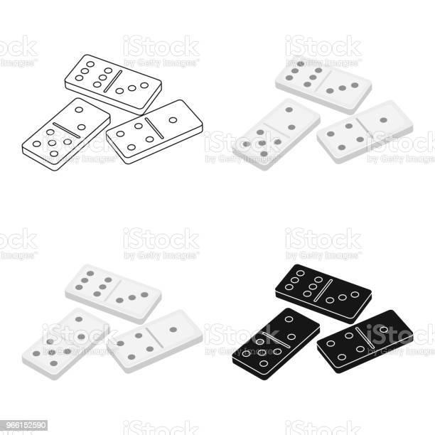 Dominoes For Playing In The Casino Gambling For Moneykasino Single Icon In Cartoon Style Vector Symbol Stock Webillustration — стоковая векторная графика и другие изображения на тему Азартные игры