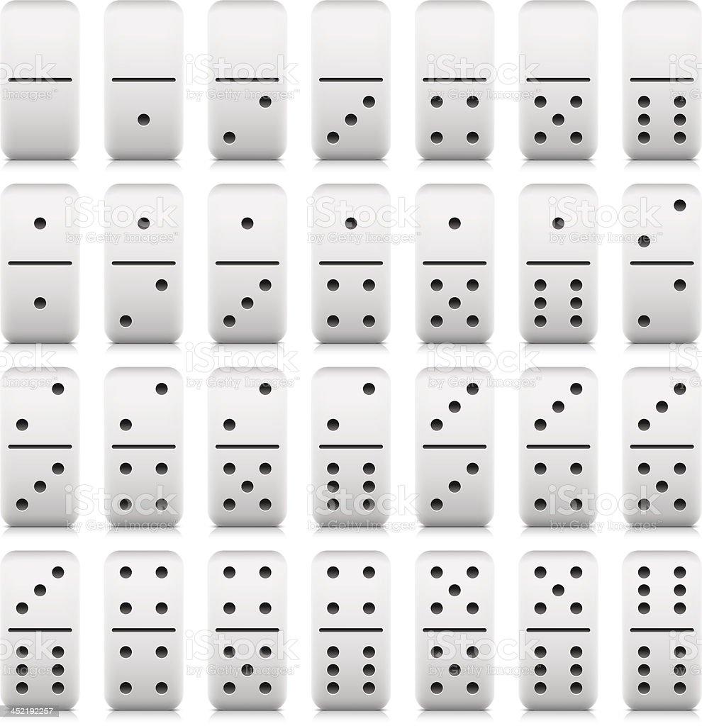 Dominoes pieces black pictogram web icon set vector art illustration