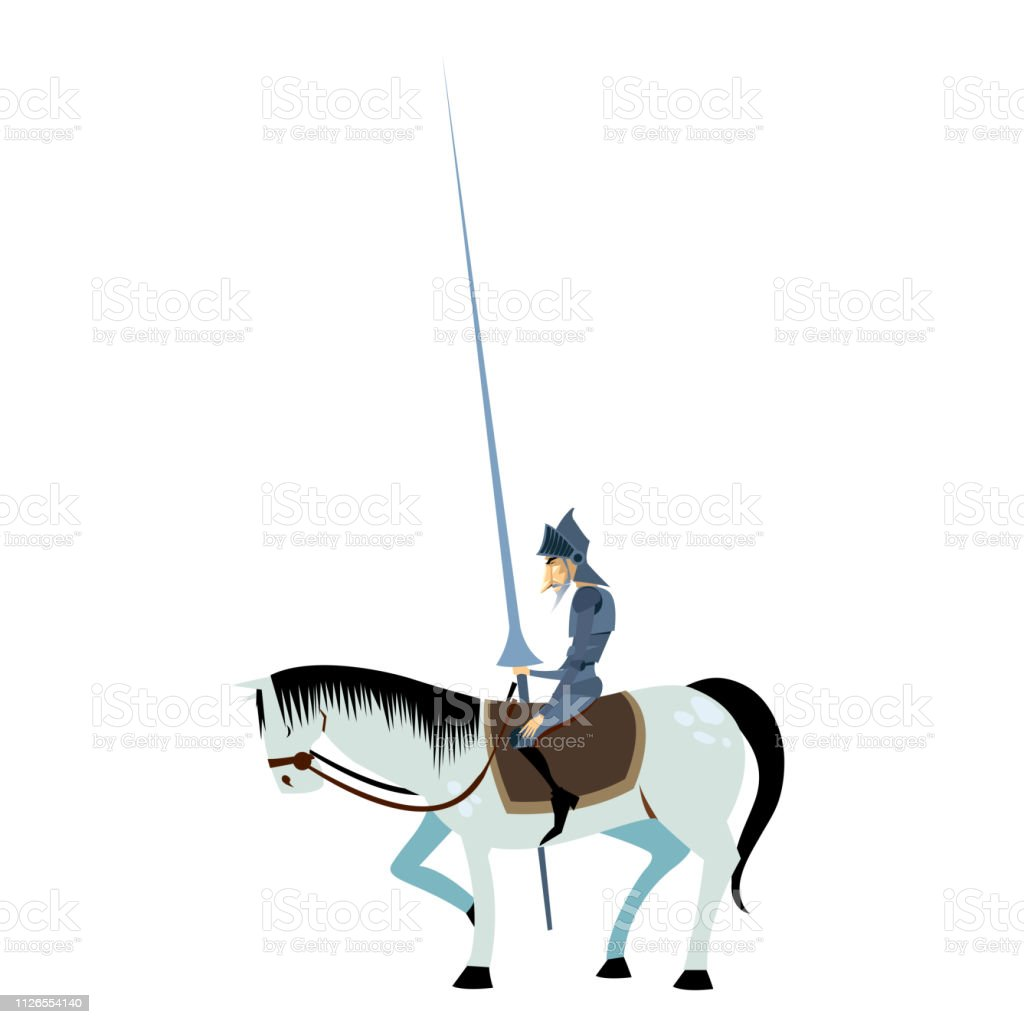 Don Quixote And Horse Pose Stock Illustration Download Image Now Istock