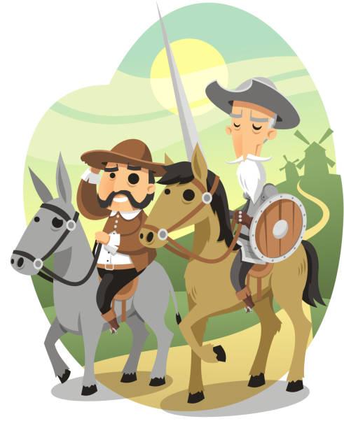 Don Quichotte & Sancho – Vektorgrafik