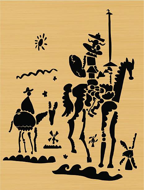 Don Quixote vector art illustration