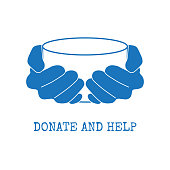 Donate and help symbol