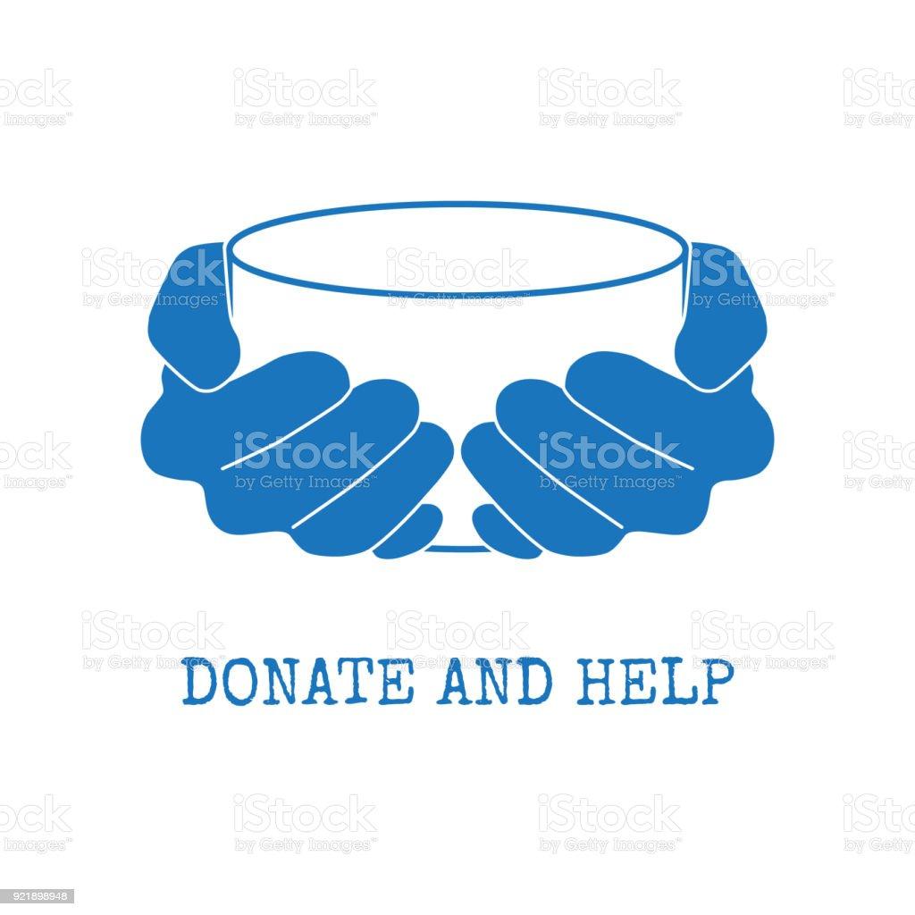 Donate and help symbol vector art illustration